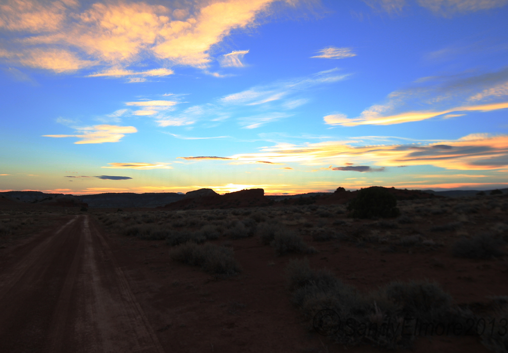 The sky just before we loaded up the ATV.