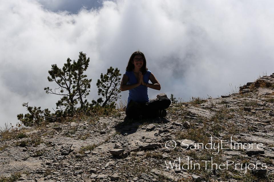 Yoga at 9,000 feet!!