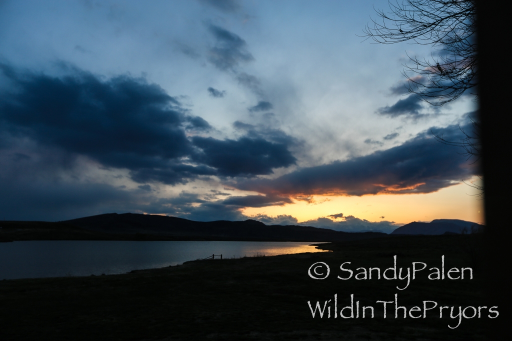 Sunset at the Monster Lake Ranch, May 9, 2015